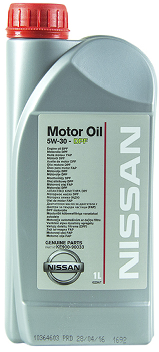 Масло моторное NISSAN MOTOR OIL SM/CF ACEA C4 5W30 DPF, 1л