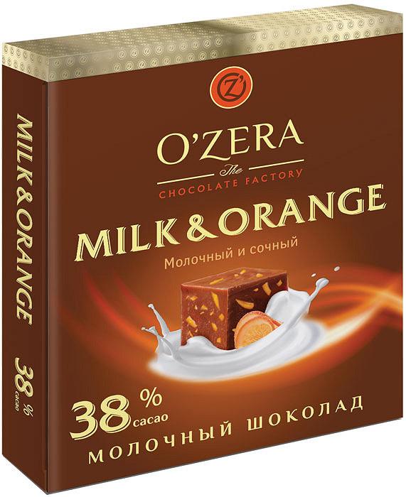 Шоколад OZera молочный с апельсином Milk Orange, 90 гр.