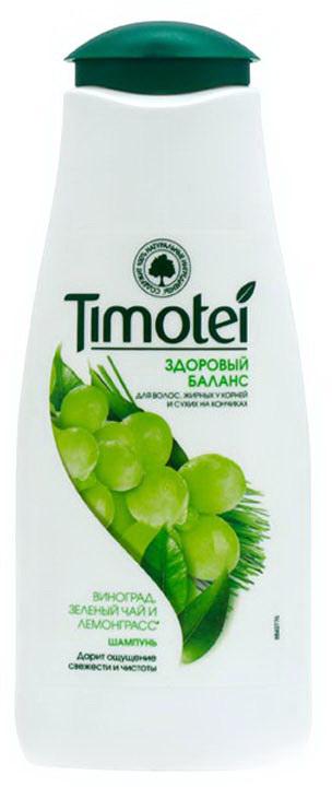 Шампунь Timotei Здоровый баланс для жирных волос у корней и сухих на кончиках, 400 мл.