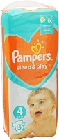 Подгузники Pampers (Памперсы) Sleep Play Maxi 4 (9-14 кг). 50 шт.