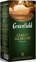Чай черный Greenfield Classic Breakfast в пакетиках, 25 шт.