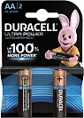 Батарейка щелочная Duracell Ultra Power AA LR6-2BL, 2 шт.