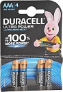 Батарейка щелочная Duracell Ultra Power AAA LR03-4BL, 4 шт.