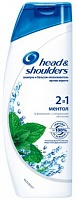 Шампунь против перхоти Head & Shoulders 2 в 1 Ментол освежающий, 600 мл.