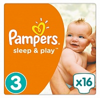 Подгузники Pampers (Памперсы) Sleep Play Midi 3 (6-10 кг), 16 шт