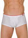 Трусы Bruno Banani (Бруно Банани) Straight Line, Hip short White-black р.6 ( L ) муж.