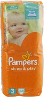 Подгузники Pampers (Памперсы) Sleep Play Midi 3 (5-9 кг), 58 шт.