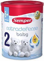 Смесь Semper Baby ND 2 Nutradefense 2, с 6 мес., 400 гр.